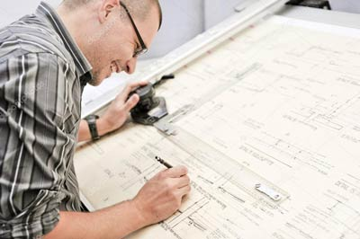 architetto progetta per stampare su materiali grande formato