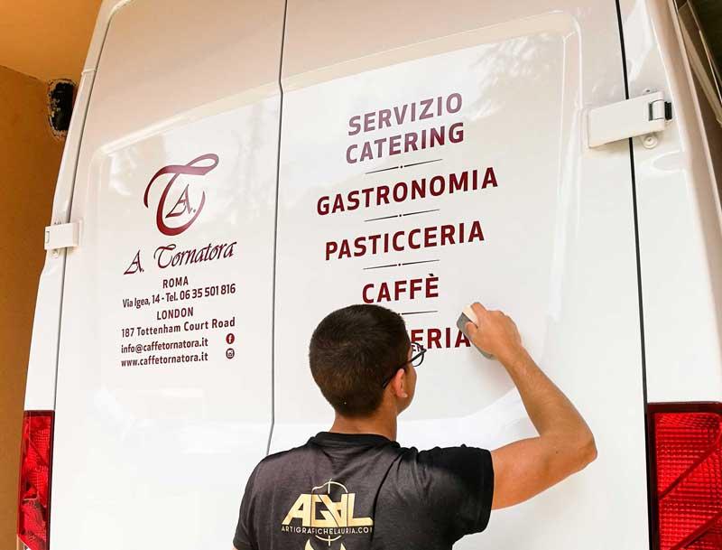 adesivi per furgoni tipografia ladispoli