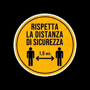 adesivi calpestabili covid distanza di sicurezza